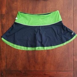 Nike Dri Fit Navy Blue/Green Athletic Skort Medium